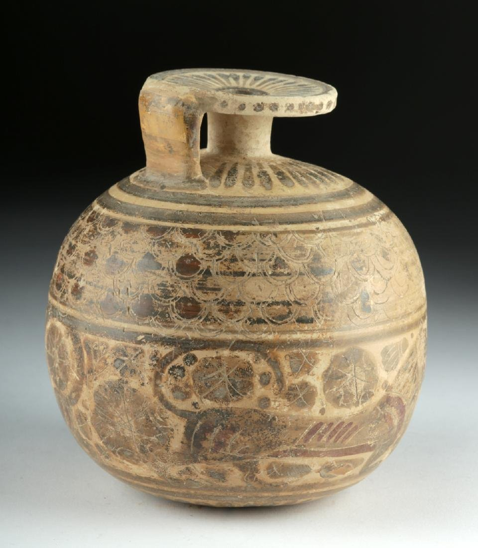 Published Large / Early Corinthian Polychrome Aryballos - 4