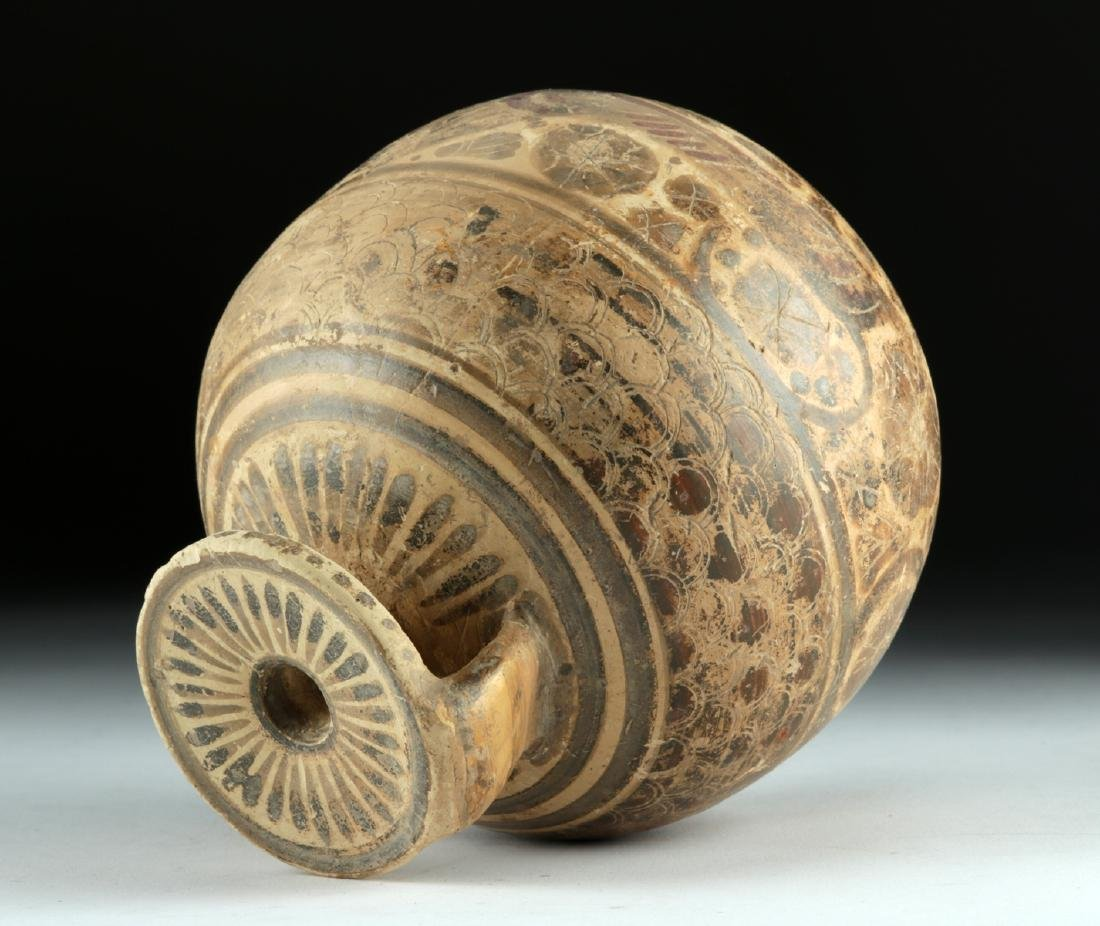 Published Large / Early Corinthian Polychrome Aryballos - 5