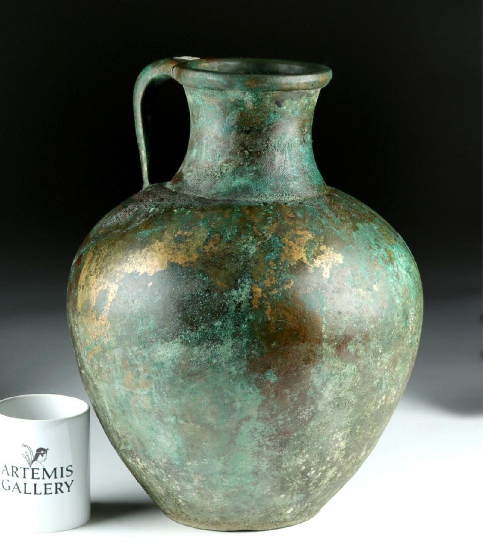 Large Greek Bronze Ewer - Superb Form
