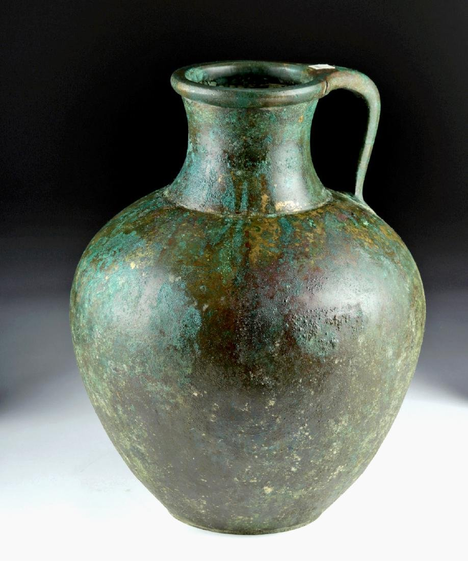 Large Greek Bronze Ewer - Superb Form - 2
