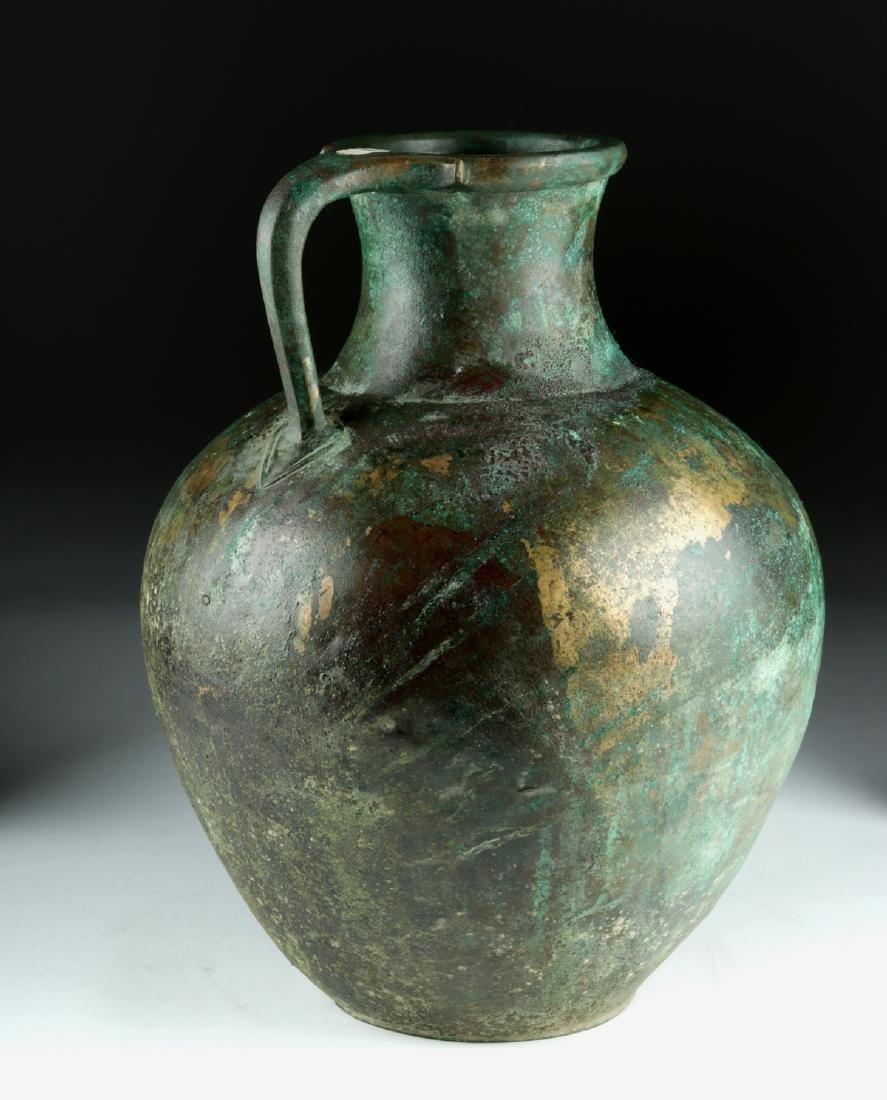 Large Greek Bronze Ewer - Superb Form - 3