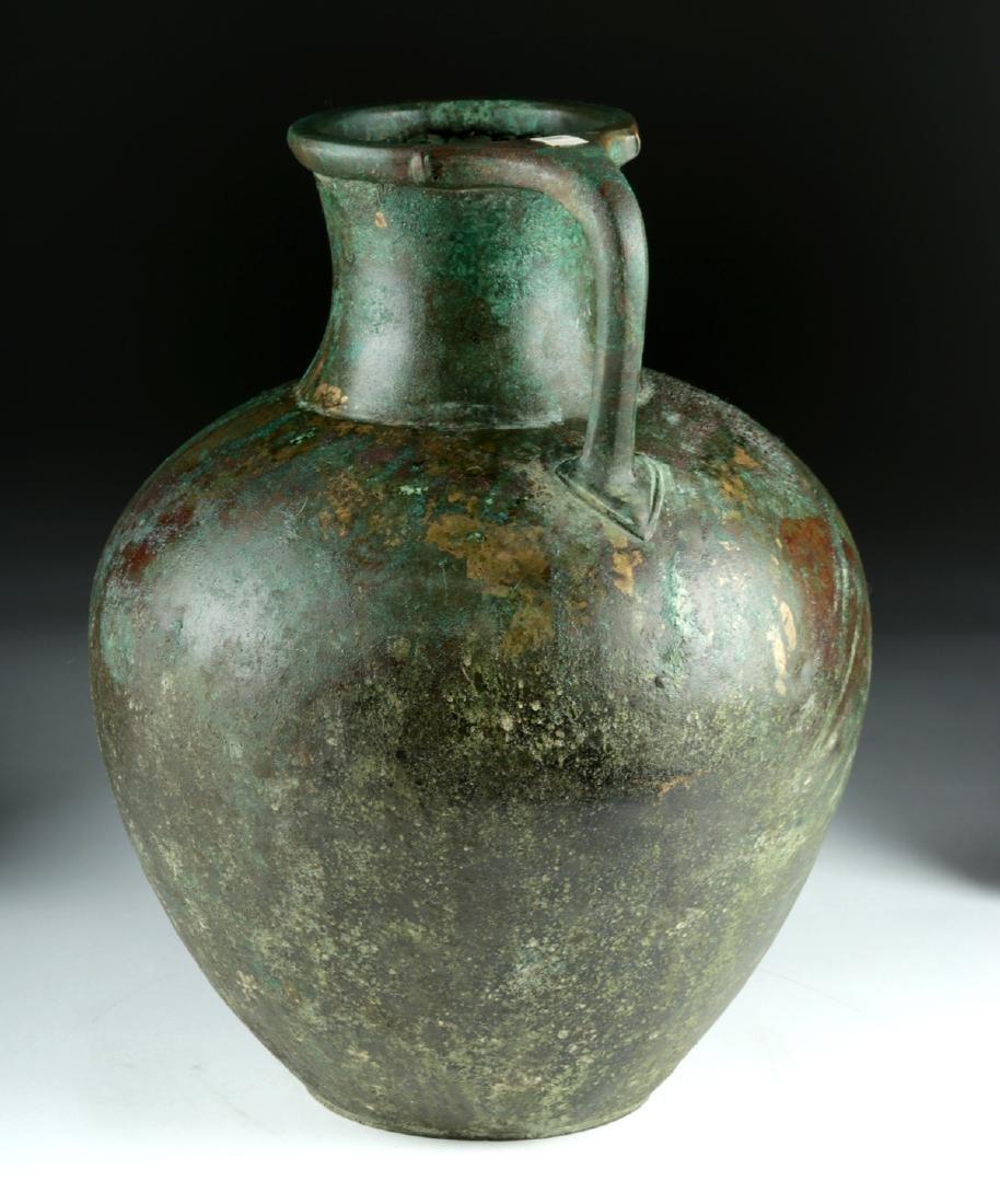 Large Greek Bronze Ewer - Superb Form - 4