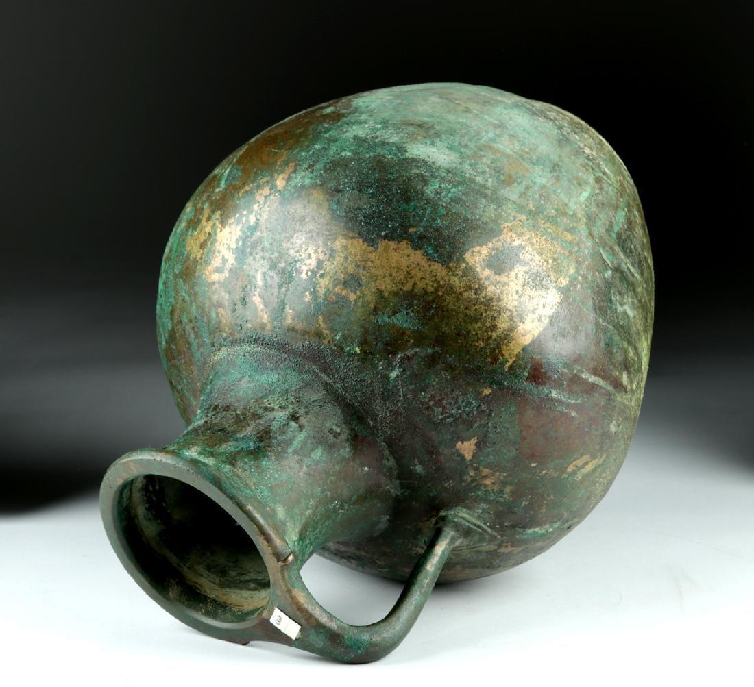 Large Greek Bronze Ewer - Superb Form - 5