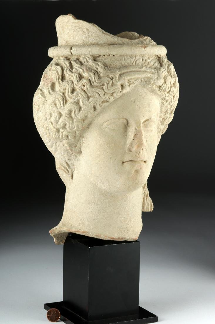 Near Life-Size Sicilian Terracotta Head of Goddess TL'd