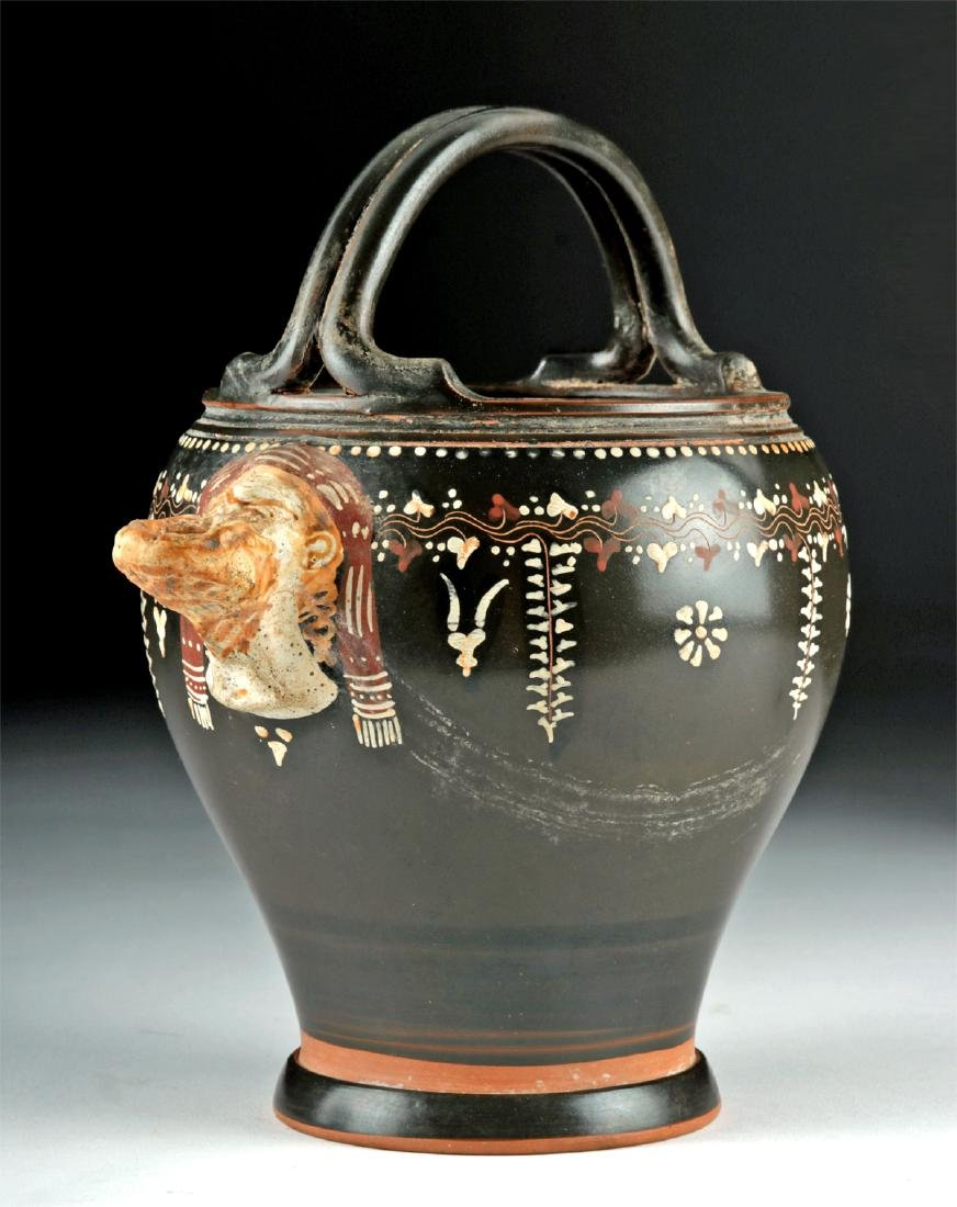 Greek Gnathian Pottery Spouted Situla, ex-Christie's