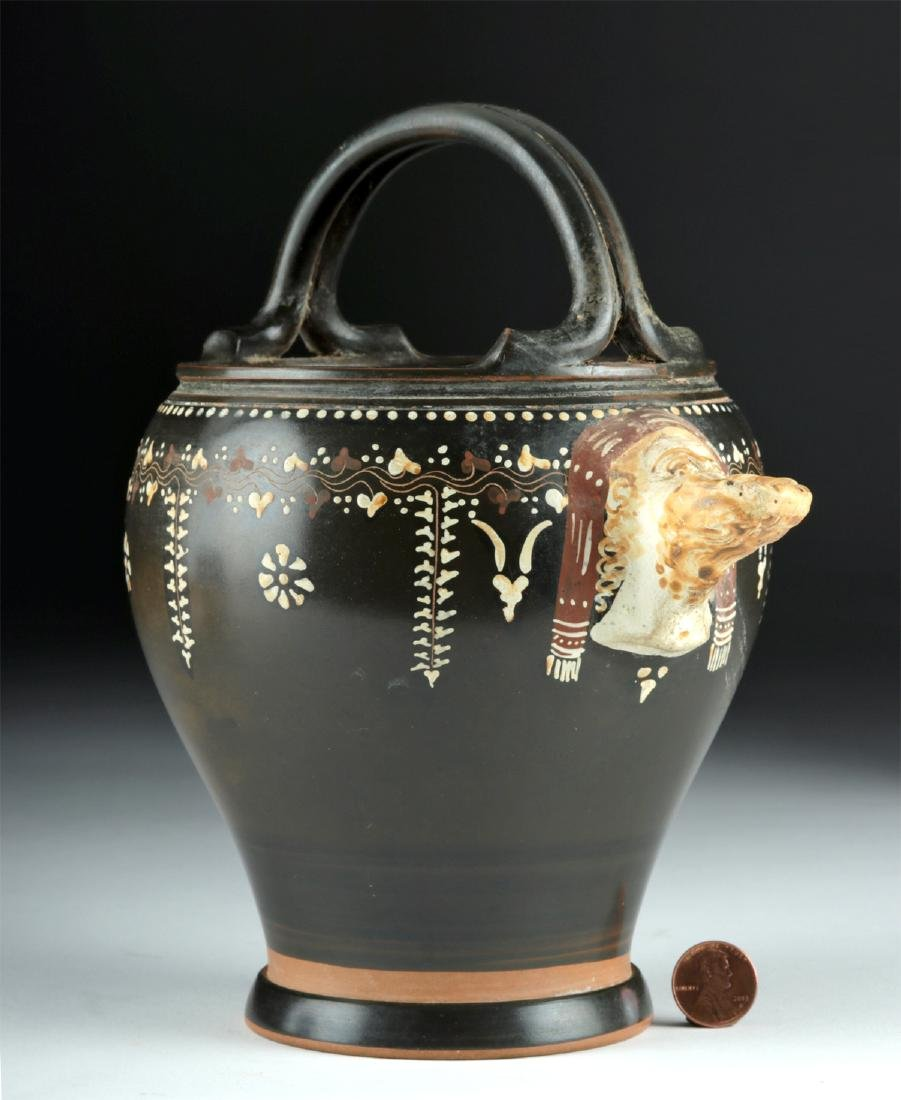 Greek Gnathian Pottery Spouted Situla, ex-Christie's - 2