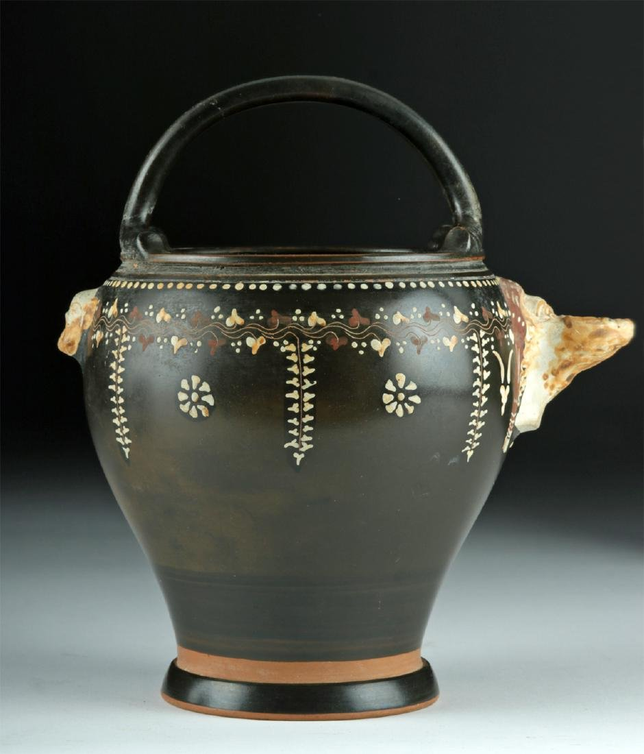 Greek Gnathian Pottery Spouted Situla, ex-Christie's - 3