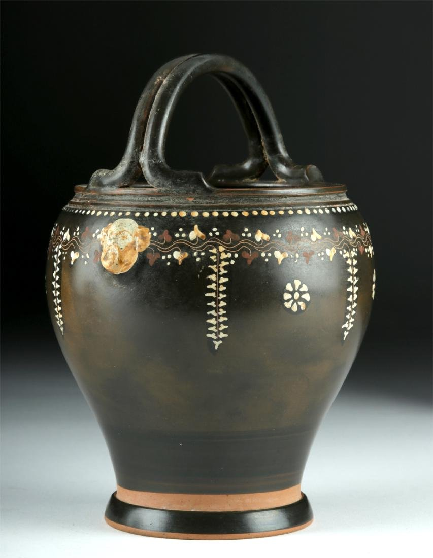 Greek Gnathian Pottery Spouted Situla, ex-Christie's - 4