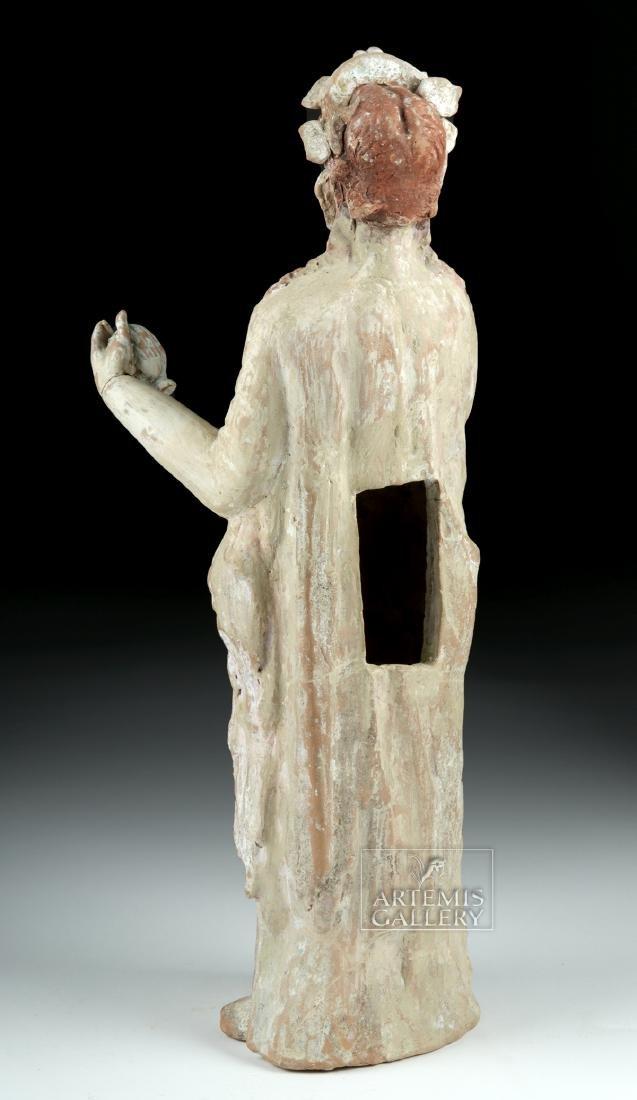 Large Greek Canosan Pottery Standing Goddess - 4