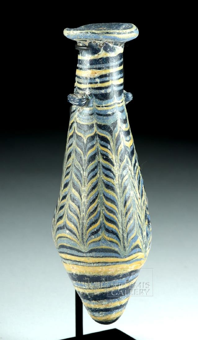 Greek Hellenistic Core-Formed Glass Alabastron - 2