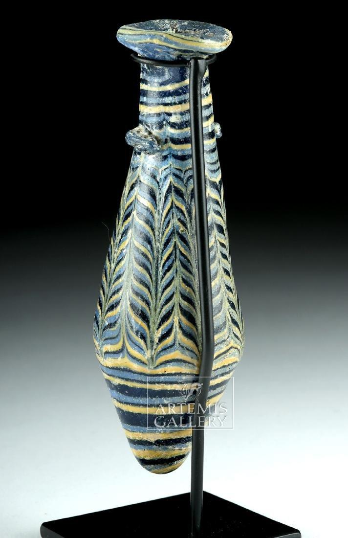 Greek Hellenistic Core-Formed Glass Alabastron - 4