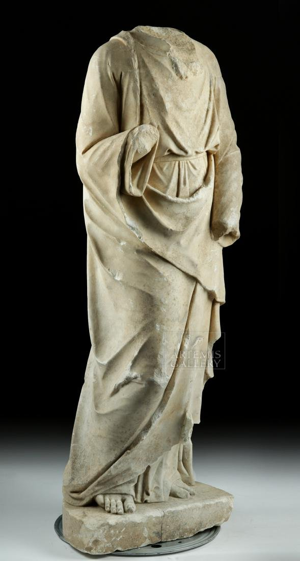 Huge Hellenistic / Roman Marble Statue of Hades - 2