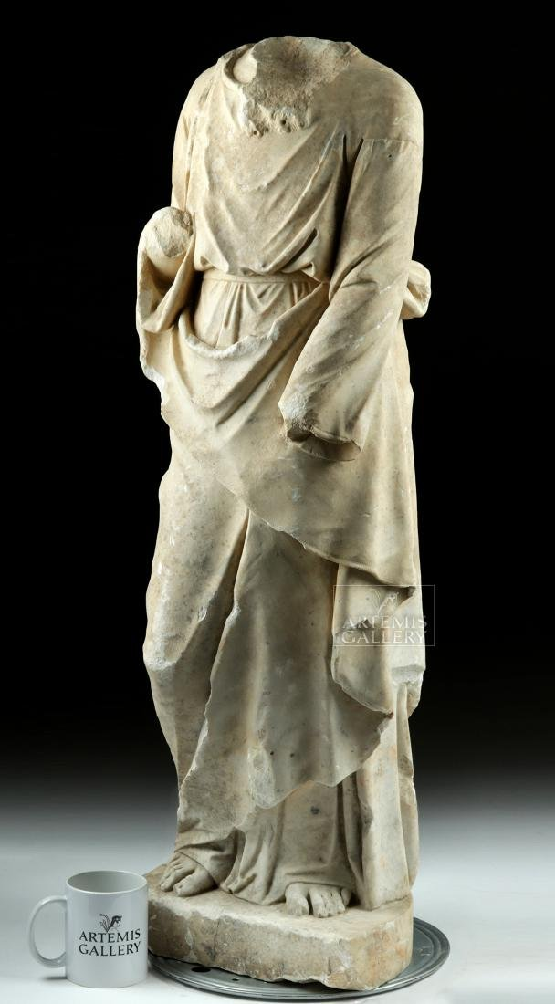 Huge Hellenistic / Roman Marble Statue of Hades - 3