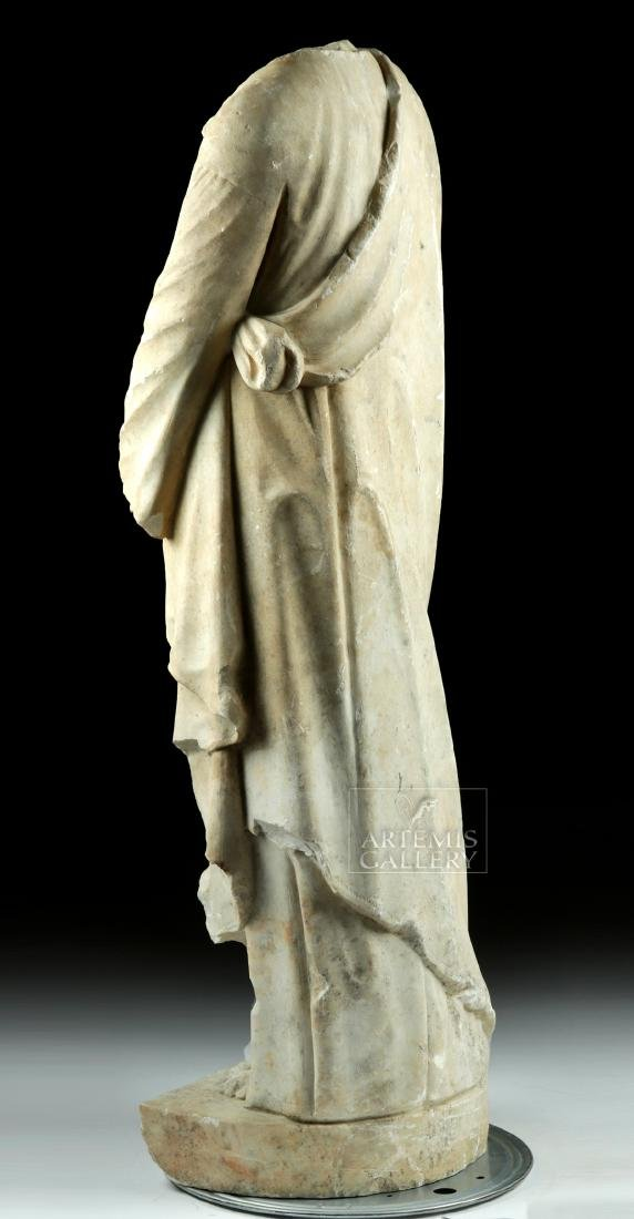 Huge Hellenistic / Roman Marble Statue of Hades - 4