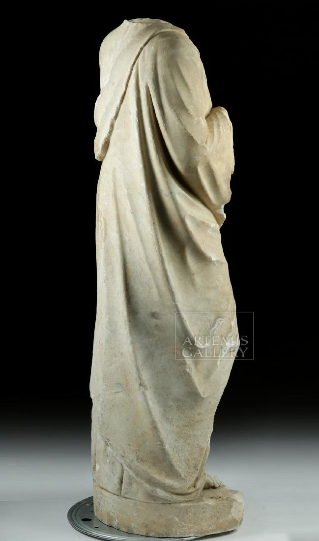 Huge Hellenistic / Roman Marble Statue of Hades - 5