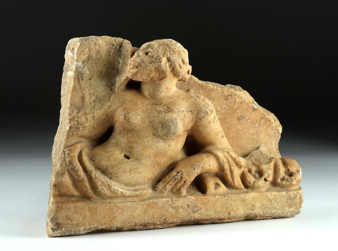 Roman Marble Sarcophagus Fragment