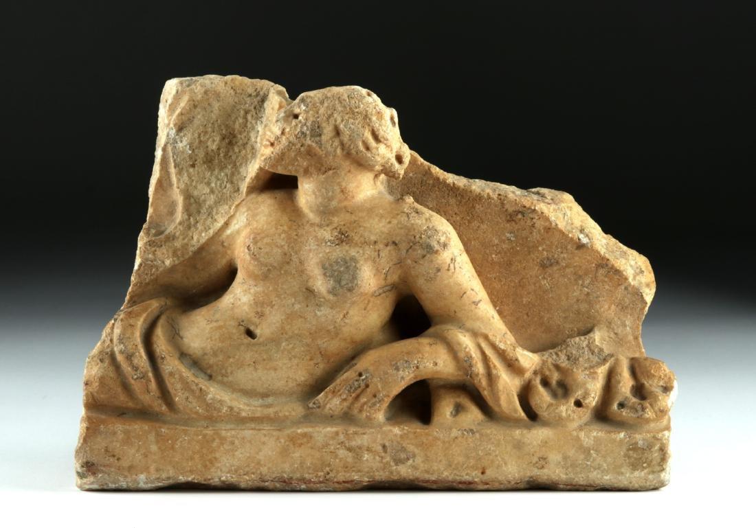 Roman Marble Sarcophagus Fragment - 2