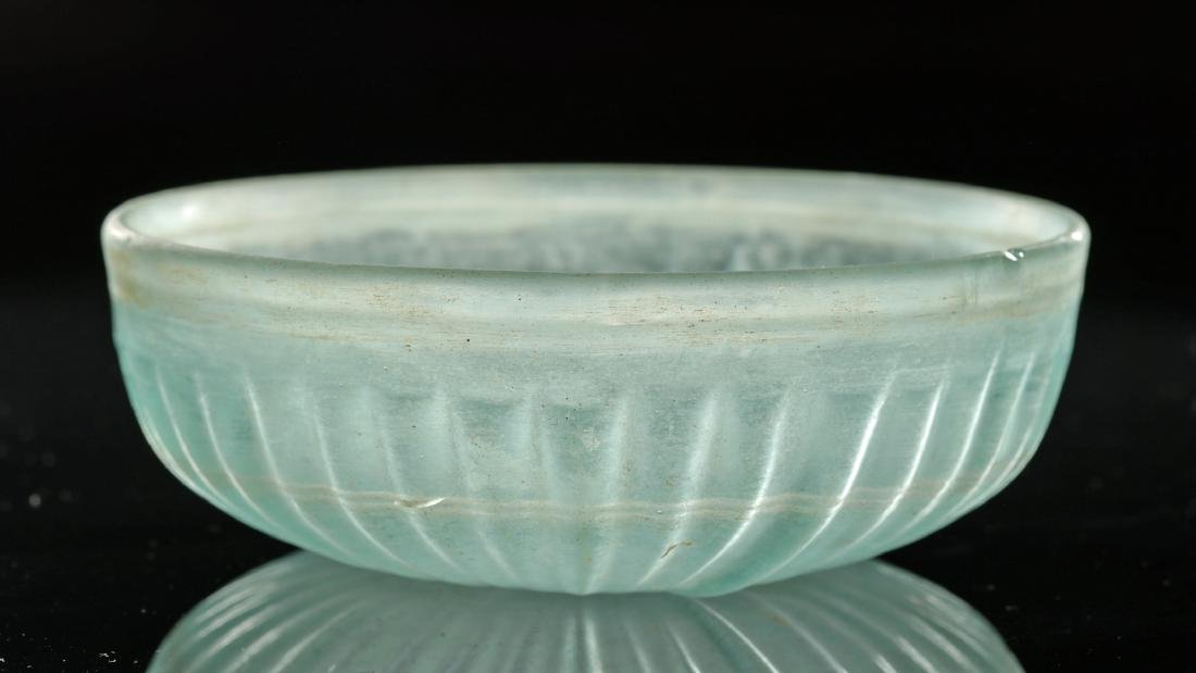 Roman Glass Pillar-Molded Patera Bowl