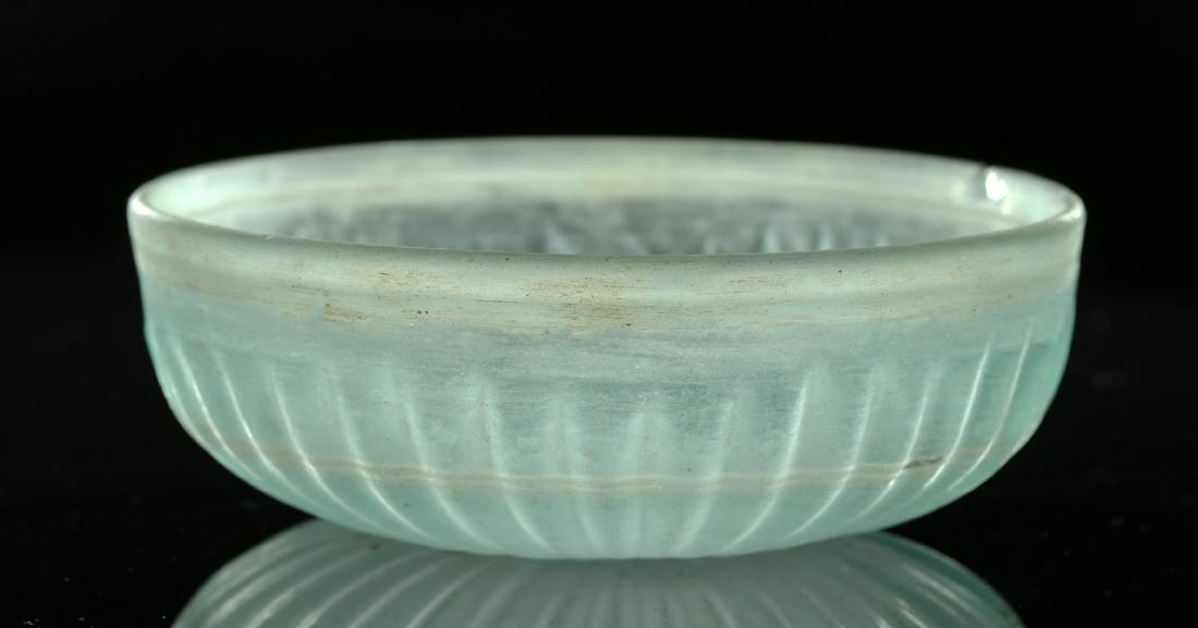 Roman Glass Pillar-Molded Patera Bowl - 2