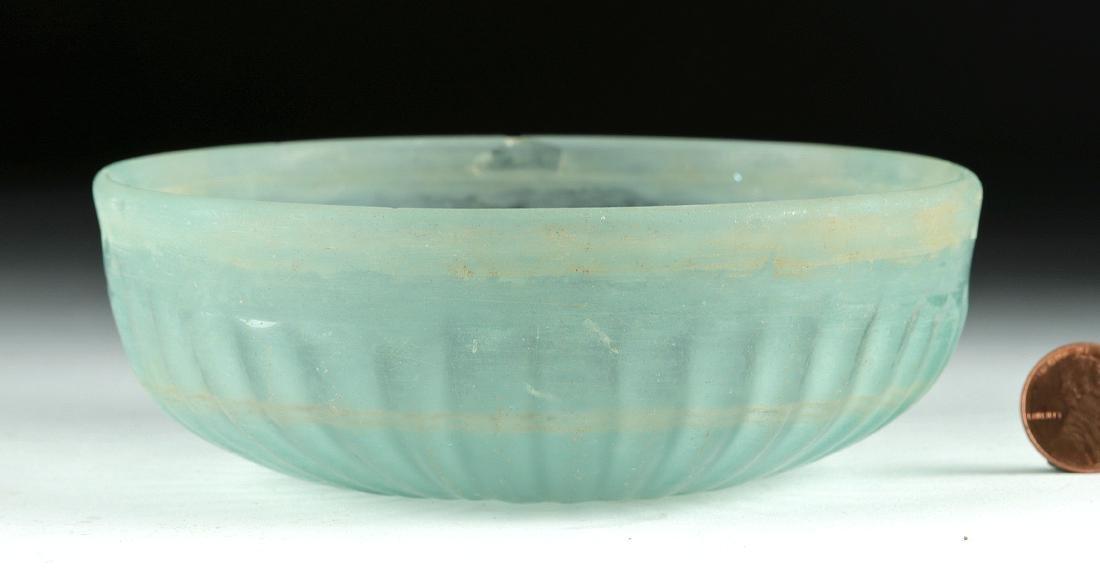 Roman Glass Pillar-Molded Patera Bowl - 3