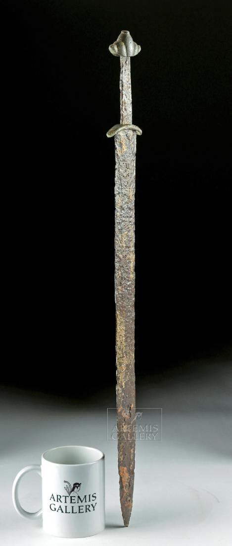Very Rare Viking Iron & Bronze Sword - Type L - 2