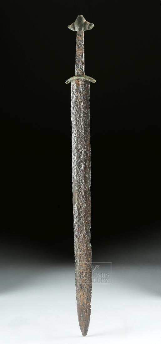 Very Rare Viking Iron & Bronze Sword - Type L - 3