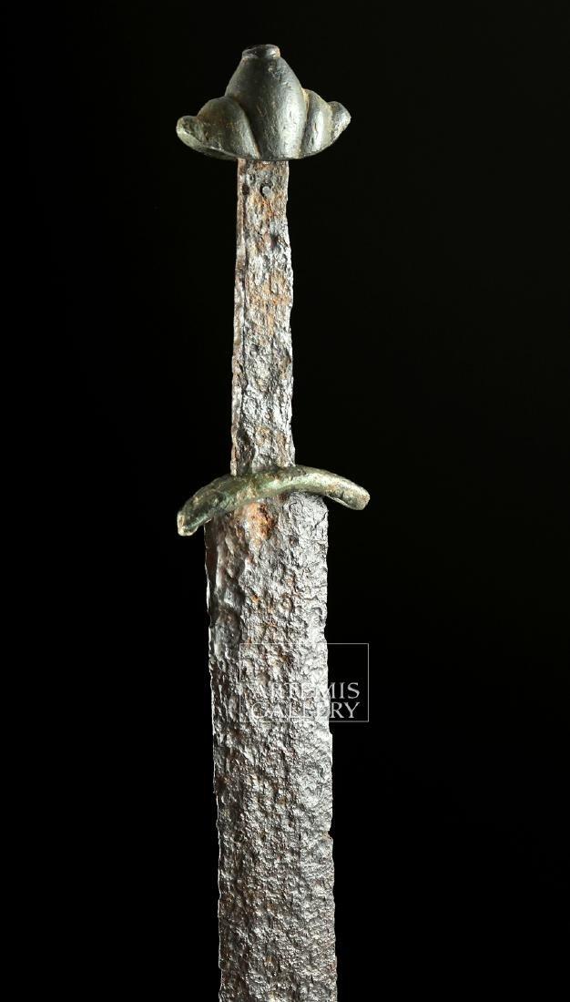 Very Rare Viking Iron & Bronze Sword - Type L - 4