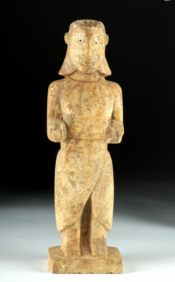 Very Rare South Arabian Limestone Standing Figure