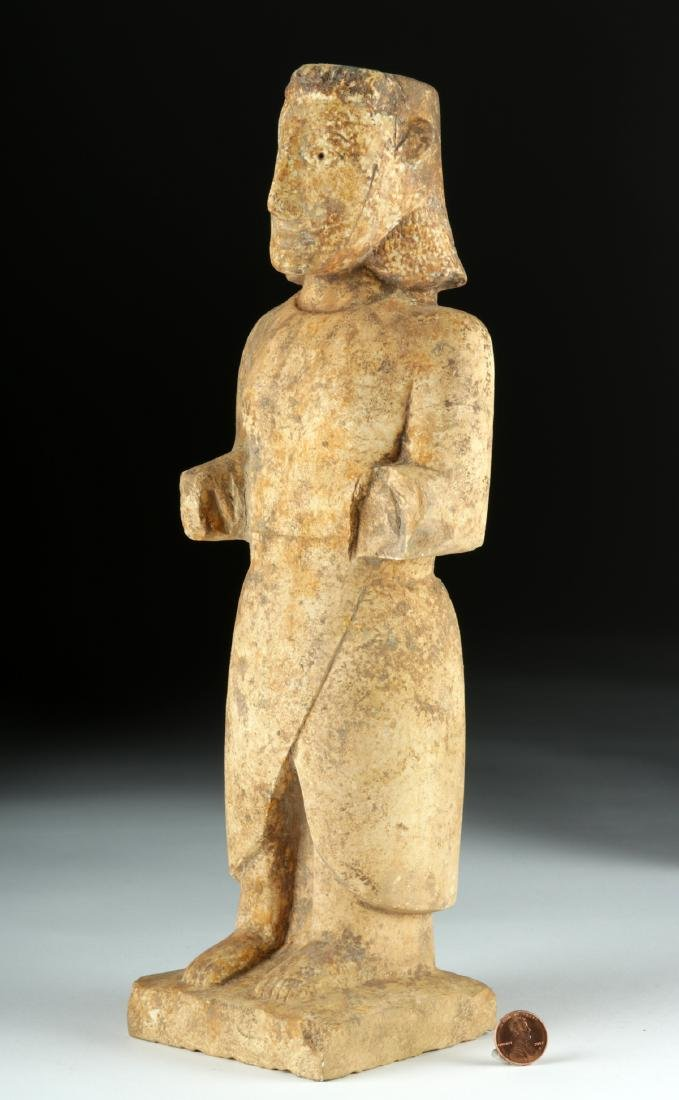 Very Rare South Arabian Limestone Standing Figure - 2