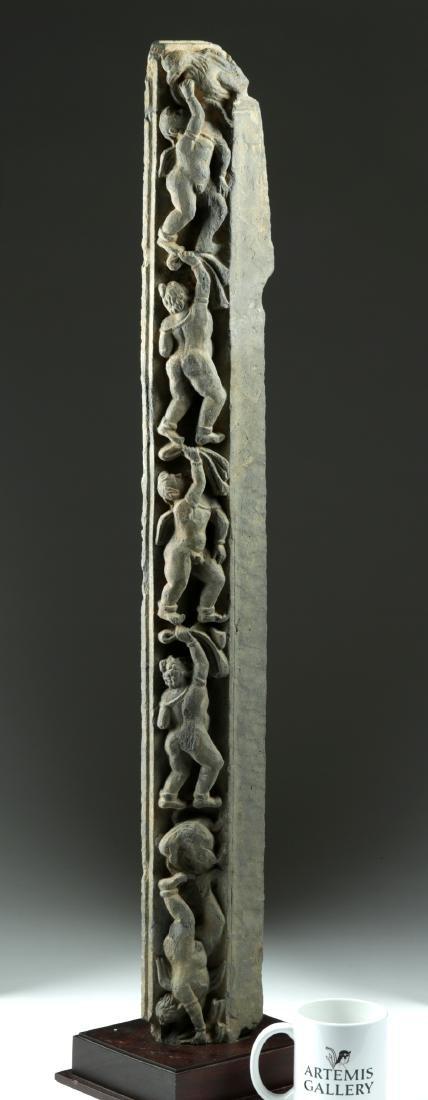Tall & Rare Gandharan Schist Frieze