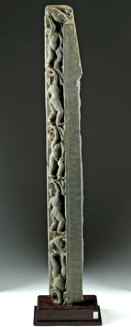Tall & Rare Gandharan Schist Frieze - 2