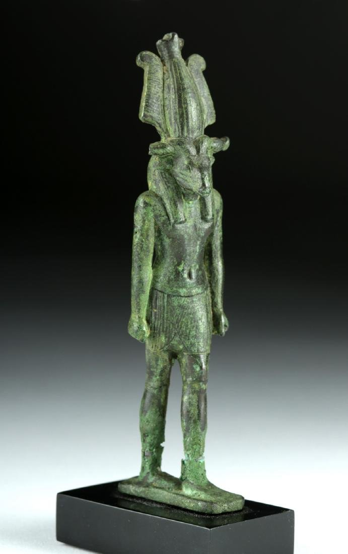 Egyptian Late Dynastic Bronze Striding Figure - Khnum