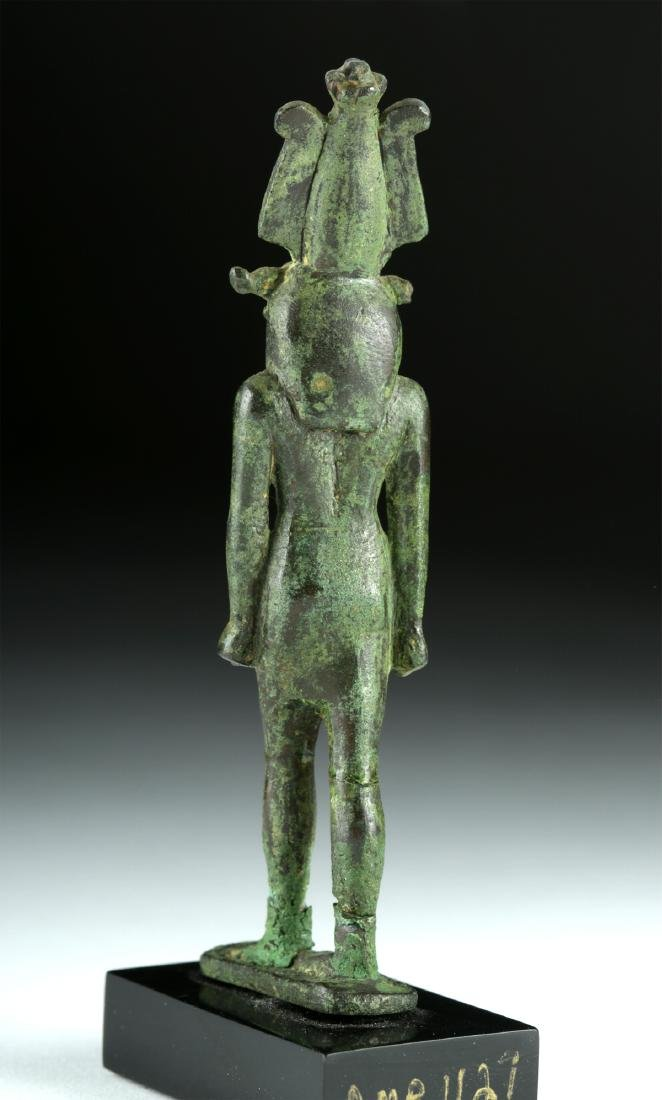 Egyptian Late Dynastic Bronze Striding Figure - Khnum - 4