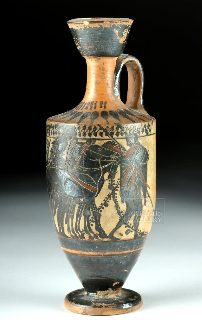 Attic Black-Figure Lekythos - Warriors & Quadriga
