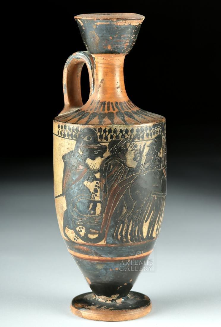 Attic Black-Figure Lekythos - Warriors & Quadriga - 2