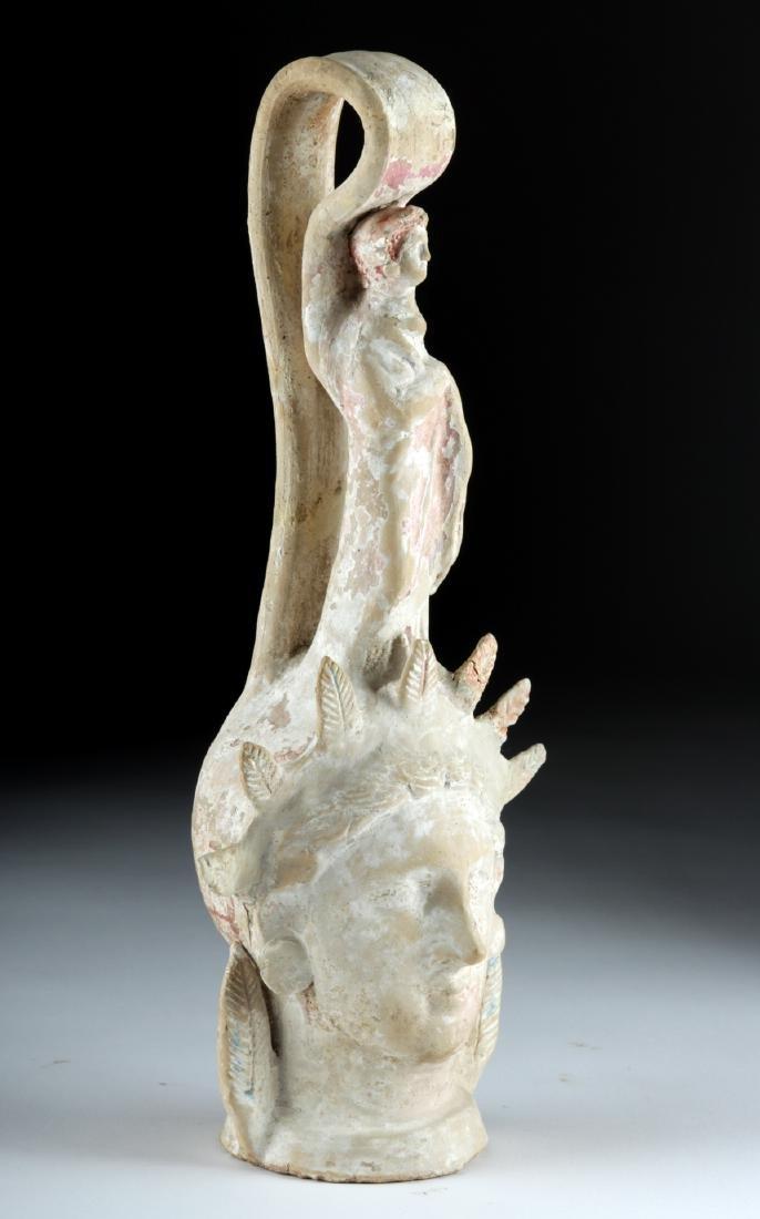 Beautiful Greek Canosan Terracotta Face Vessel - 2