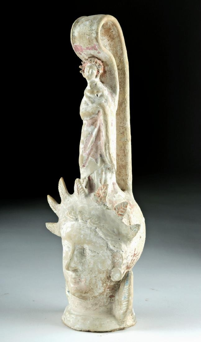 Beautiful Greek Canosan Terracotta Face Vessel - 3