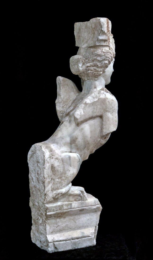 Eastern Greek Marble Sphinx Trapexophoros - 10