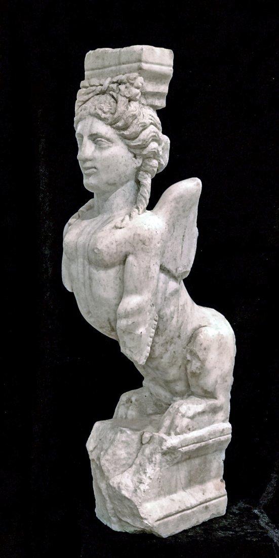 Eastern Greek Marble Sphinx Trapexophoros - 6