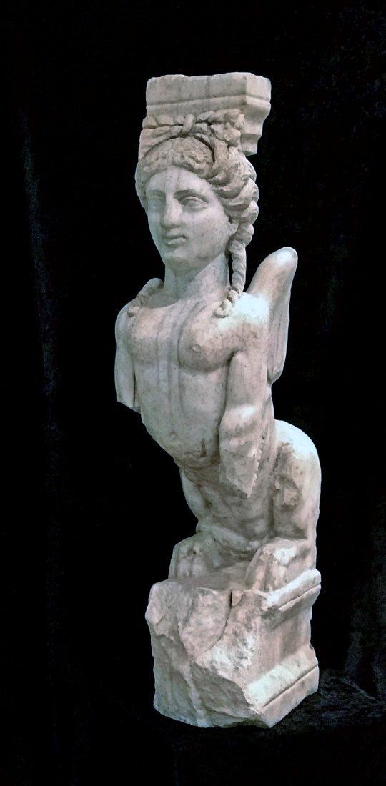 Eastern Greek Marble Sphinx Trapexophoros - 7