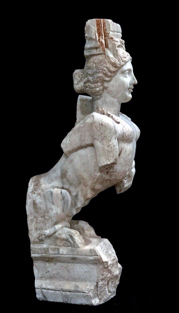 Eastern Greek Marble Sphinx Trapexophoros - 9