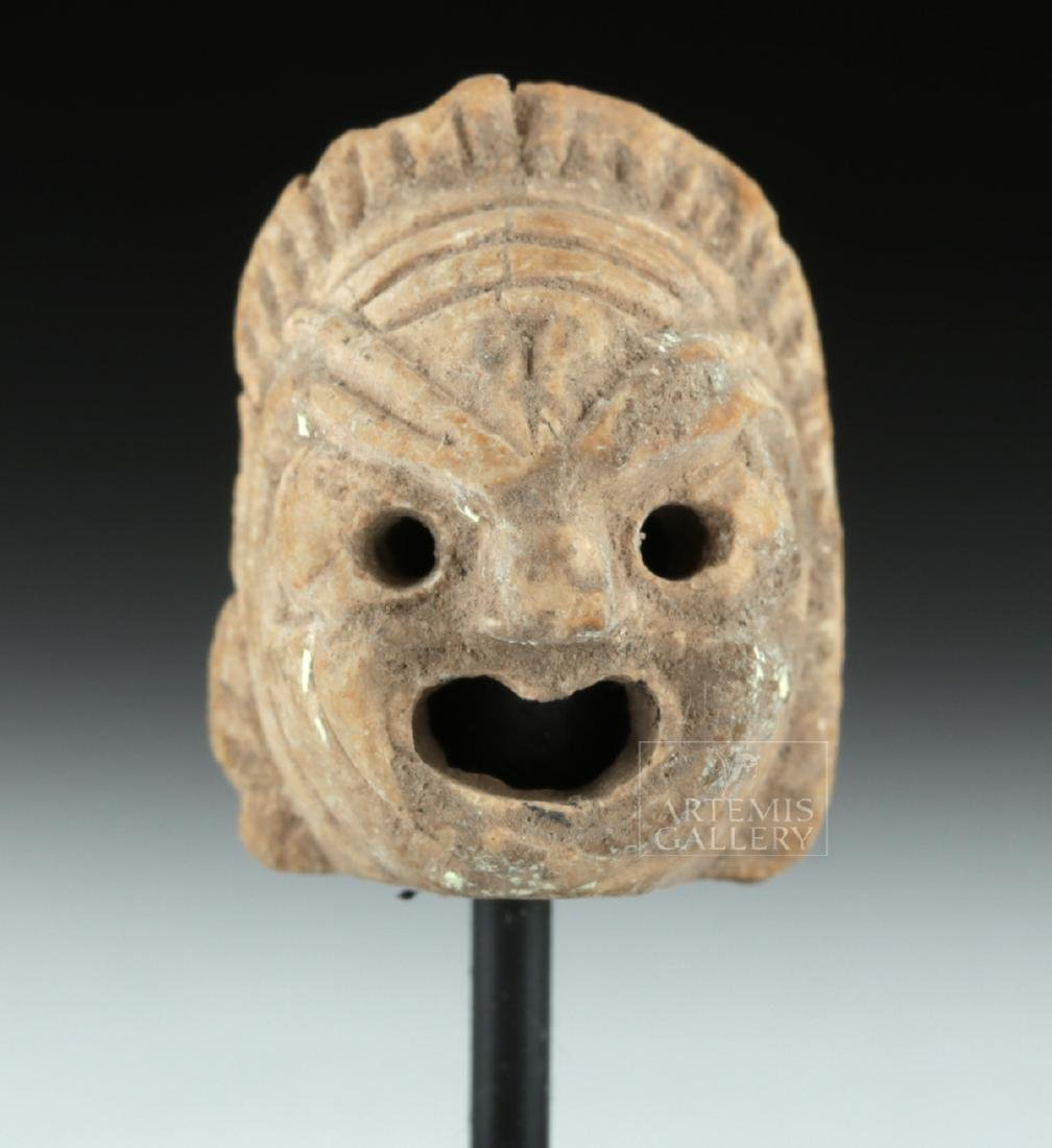 Rare Miniature Roman Terracotta Actor's Mask - 2