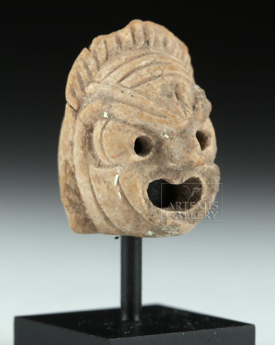 Rare Miniature Roman Terracotta Actor's Mask - 3