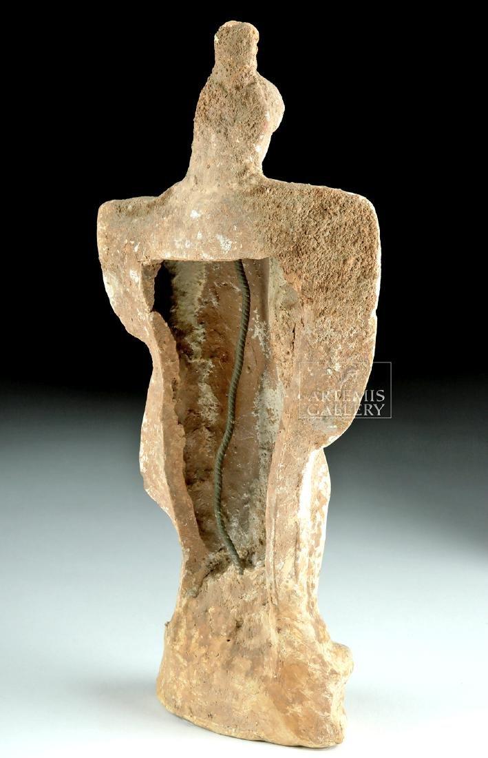 Greek Tanagra Terracotta Polychrome Standing Figure - 4
