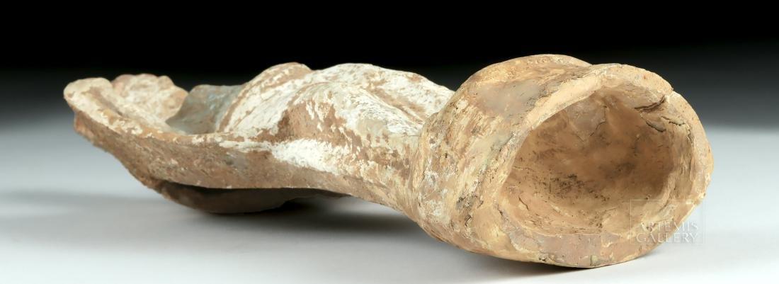 Greek Tanagra Terracotta Polychrome Standing Figure - 5
