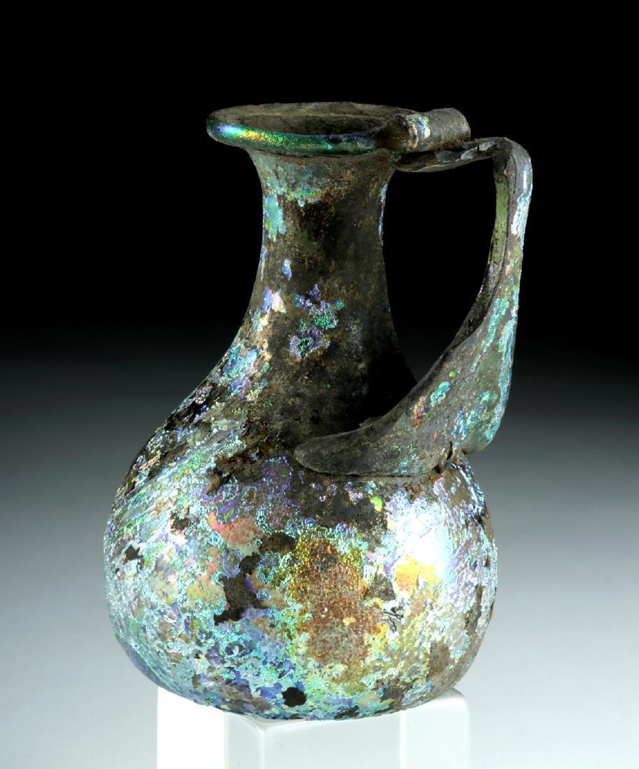 Roman Glass Pitcher w/ Stunning Iridescence - 3