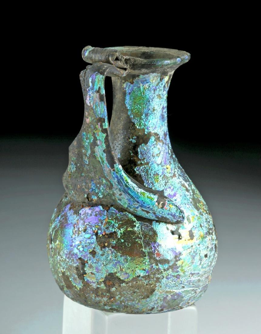 Roman Glass Pitcher w/ Stunning Iridescence - 4