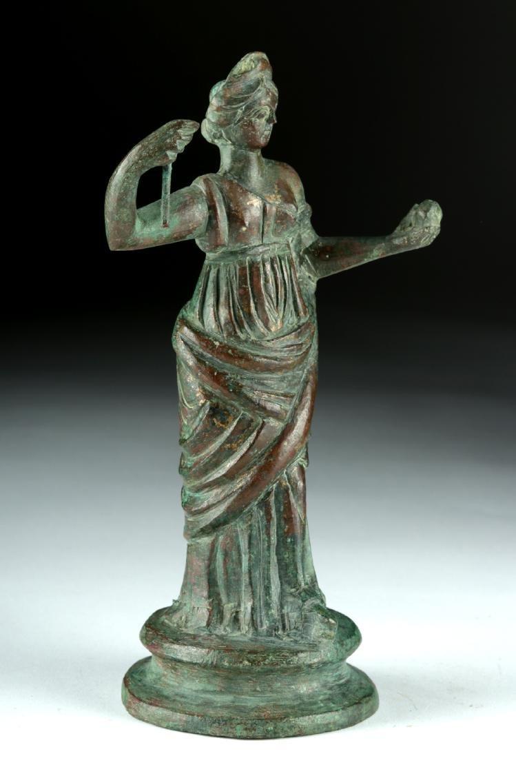 Tall Roman Bronze Statue - Standing Goddess / Muse - 2