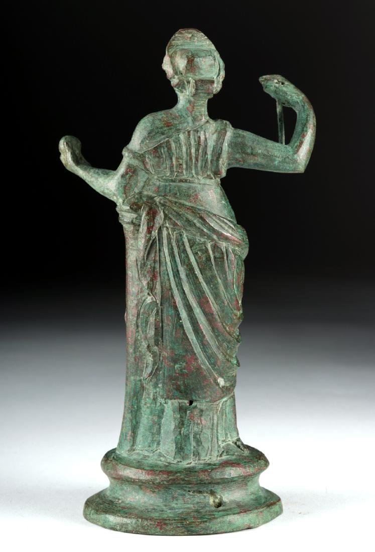 Tall Roman Bronze Statue - Standing Goddess / Muse - 4