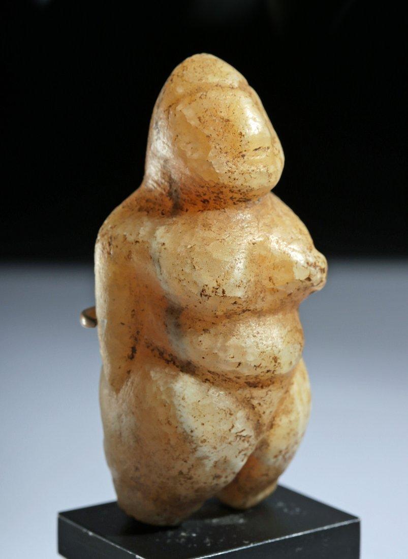Ancient Mesopotamian Alabaster Female Fertility Idol - 2